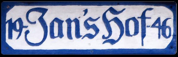 Schild Jan's Hof Juist 1946
