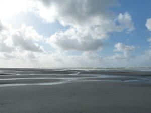 Niedrigwasser am Strand